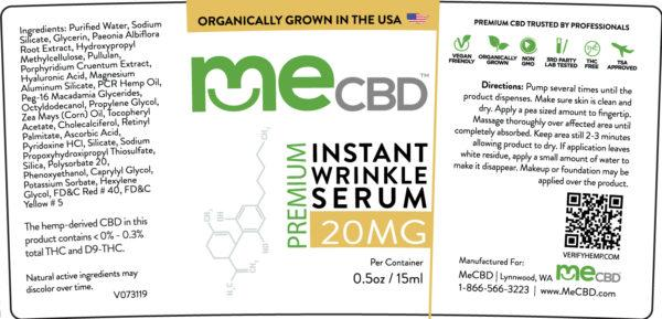 CBD Instant Wrinkle Serum - 1oz - The Hemp Dispense