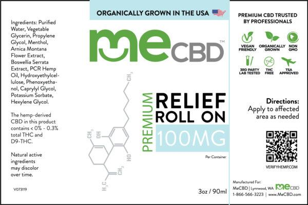 CBD Intensive Relief Roll On - 3oz / 90ml - The Hemp Dispense