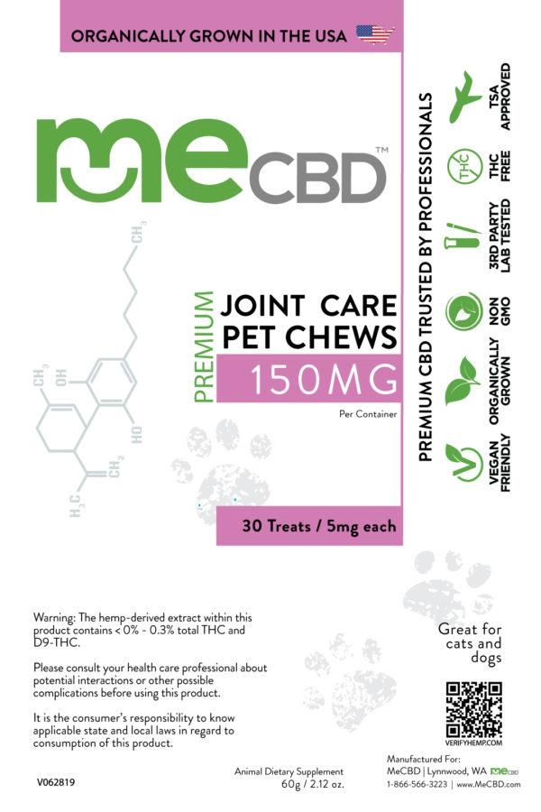 CBD Joint Care Pet Treats - 150mg - The Hemp Dispense