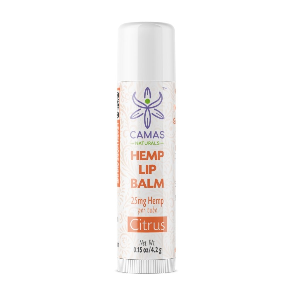 CBD Lip Balm - 25mg Citrus - Camas Naturals - The Hemp Dispense