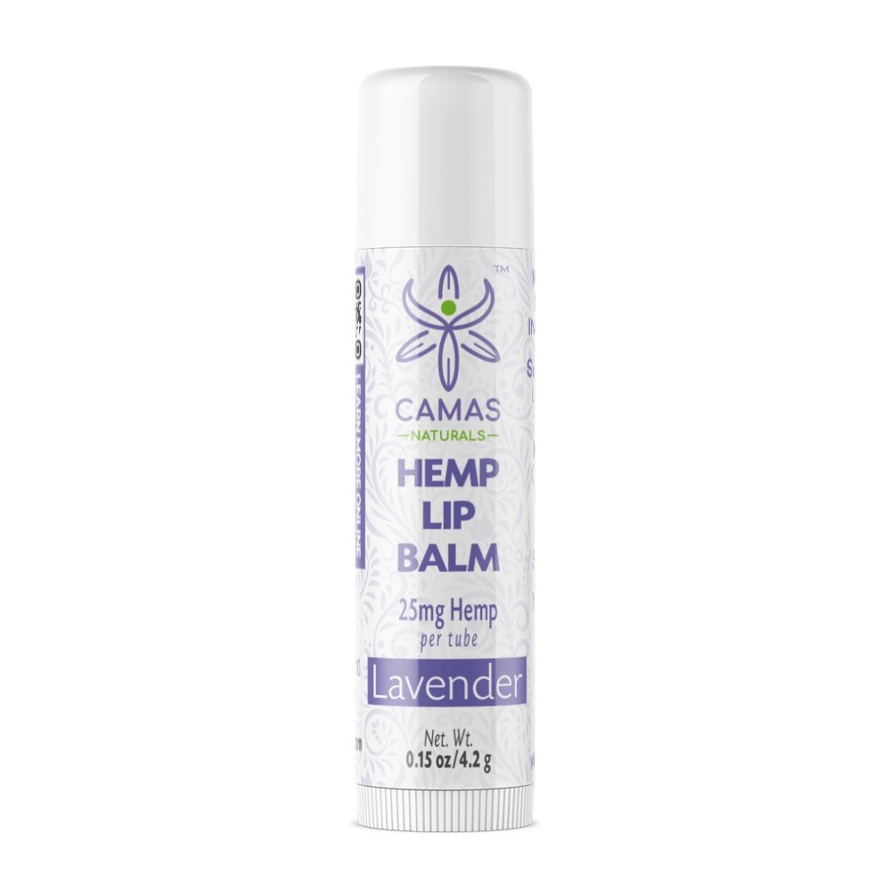 CBD Lip Balm - 25mg Lavender - Camas Naturals - The Hemp Dispense