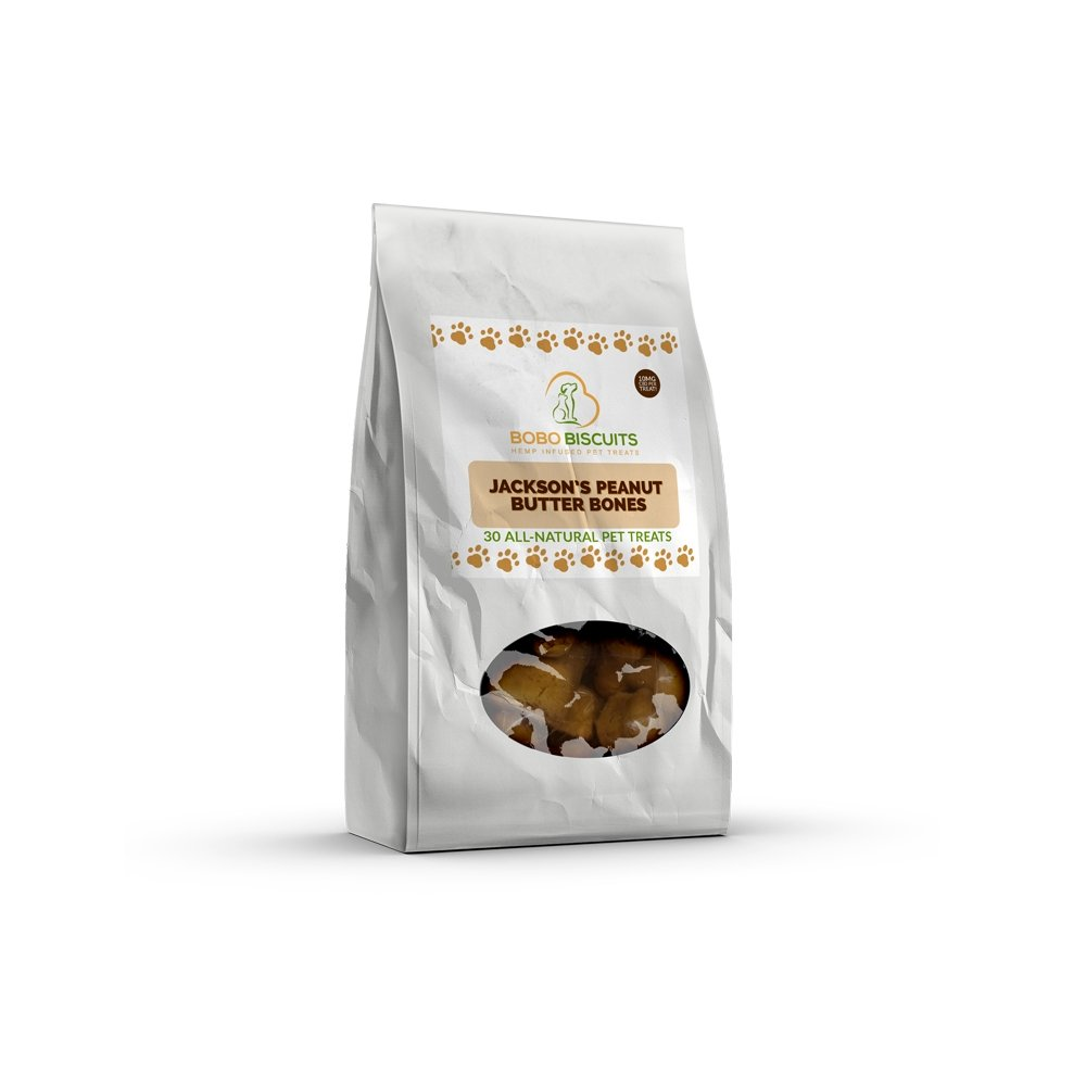 CBD Pet Treats - 40mg-300mg Peanut Butter - Bobo Biscuits - The Hemp Dispense