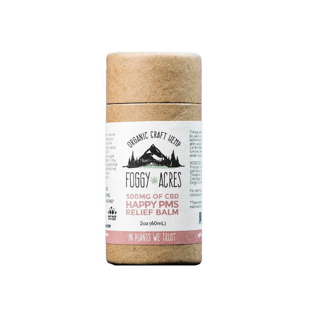 Foggy Acres - Happy PMS Relief Balm: 500mg - 2 oz - The Hemp Dispense