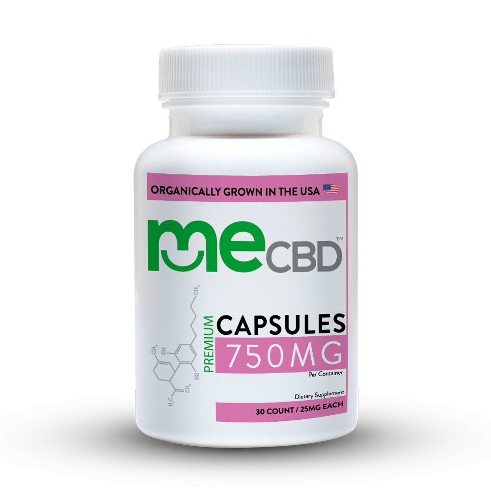 meCBD CBD Capsules: 300mg-750mg - 30 count - The Hemp Dispense