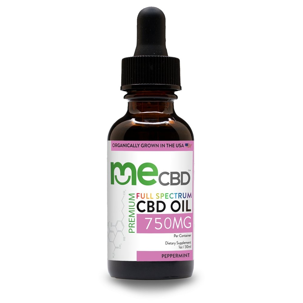 meCBD Full Spectrum CBD Oil: 250mg-5000mg - Peppermint - The Hemp Dispense