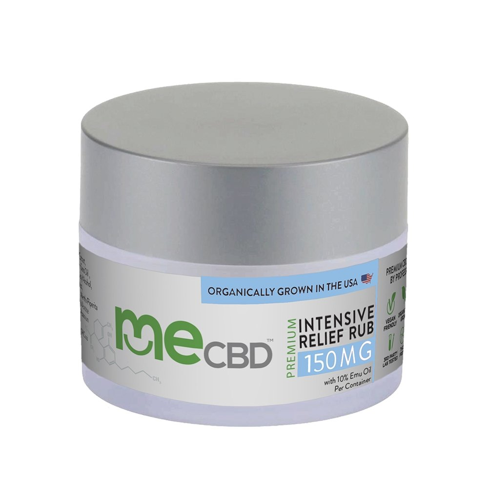 meCBD - Intensive Relief CBD Rub: 60mg - 500mg - Emu Oil - The Hemp Dispense