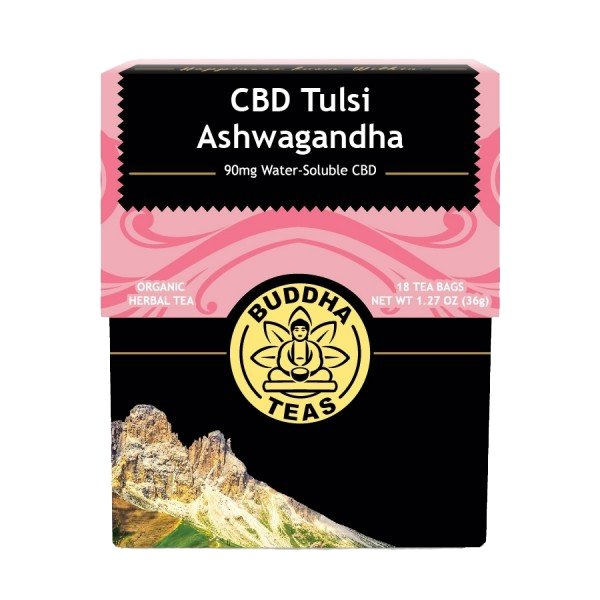 Organic CBD Tulsi Ashwagandha Tea - The Hemp Dispense