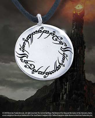 lord of the rings elven script charm pendant