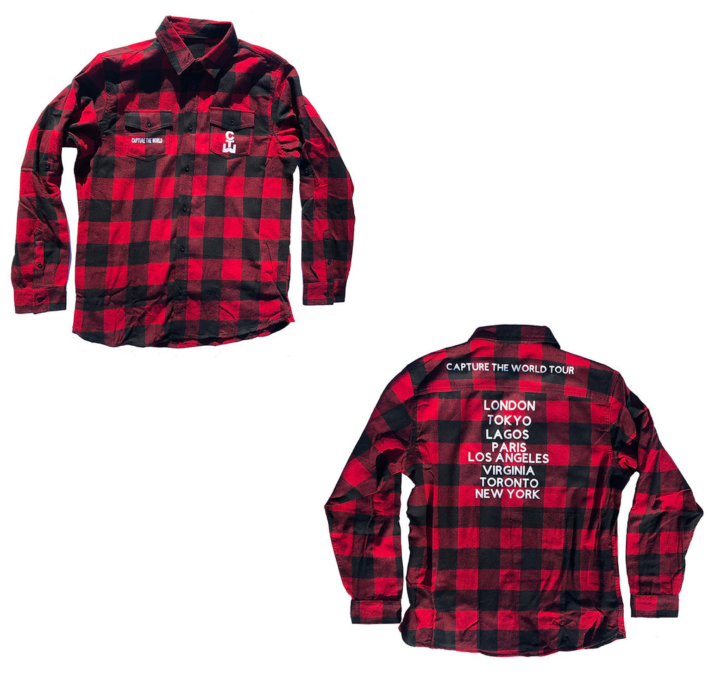 "CTW ""World Tour"" Flannel"