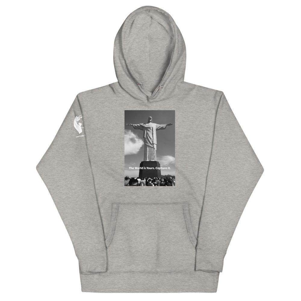 Carbon Grey Christ The Redeemer (Jesus Peace) Hoodie