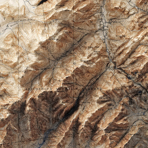 Adirondack High Peaks, NY - Vintage Relief Map (1897)