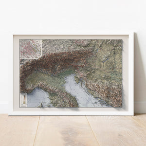 The Alps - Vintage Relief Map