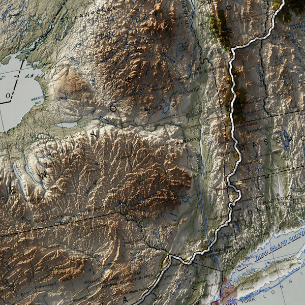 Appalachian Trail - Vintage Relief Map