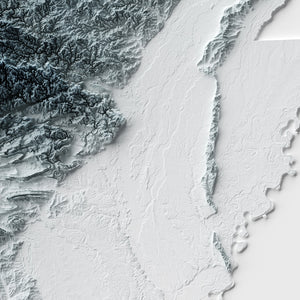 Arkansas - Modern Relief Map