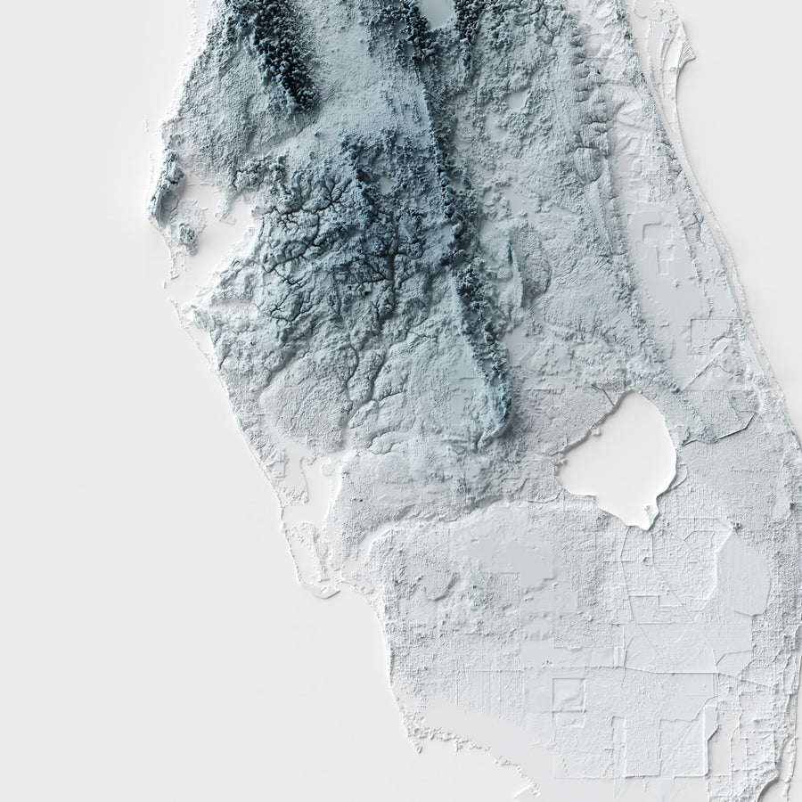 Florida - Modern Relief Map