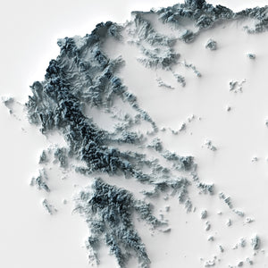 Greece - Modern Relief Map