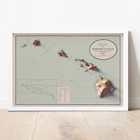 Hawaii - Vintage Relief Map