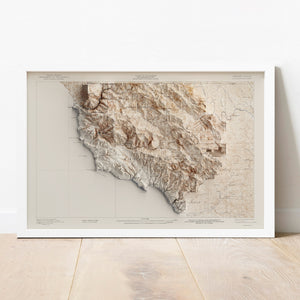 Hearst Ranch, CA - Vintage Relief Map (1919)