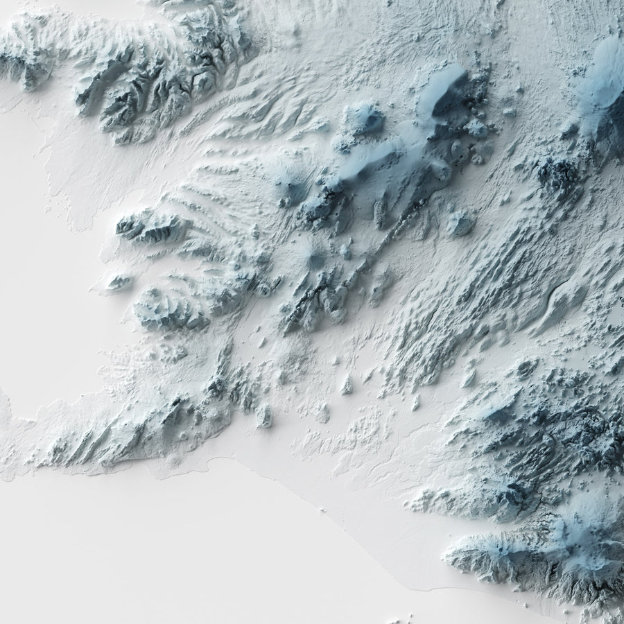 Iceland - Modern Relief Map