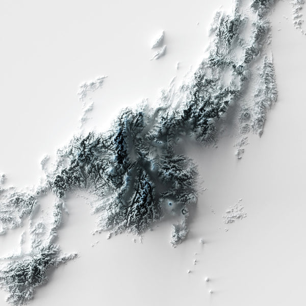 Japan - Modern Relief Map