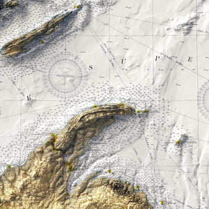 Lake Superior - Vintage Relief Map