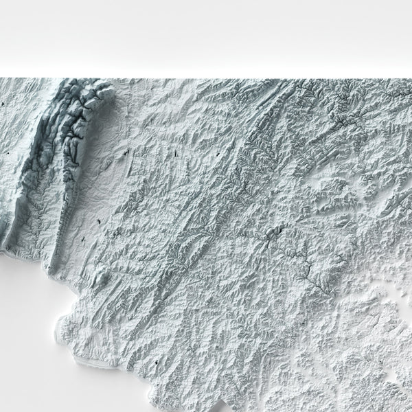 Maryland - Modern Relief Map