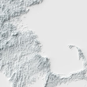 Massachusetts - Modern Relief Map