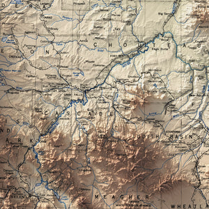 Montana - Vintage Relief Map