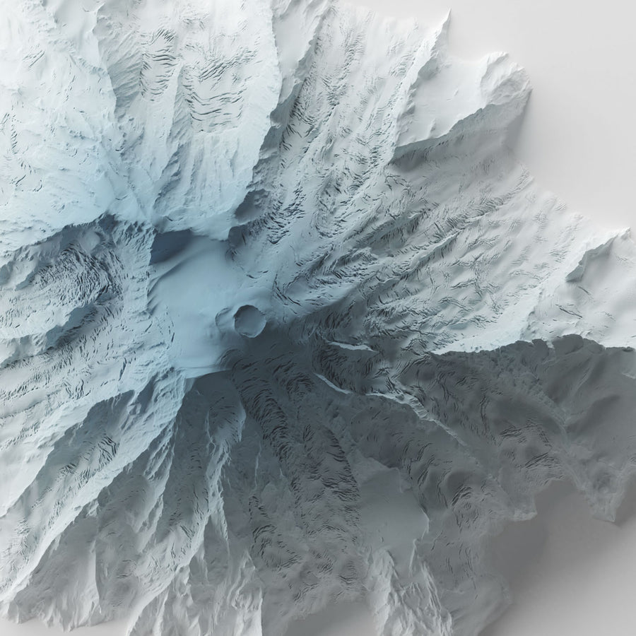 Mount Rainier - Modern Relief Map