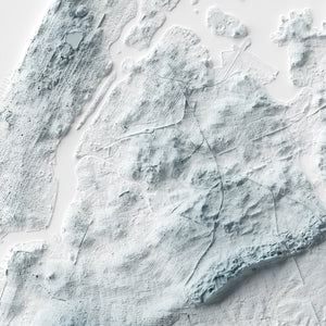 New York City - Modern Relief Map