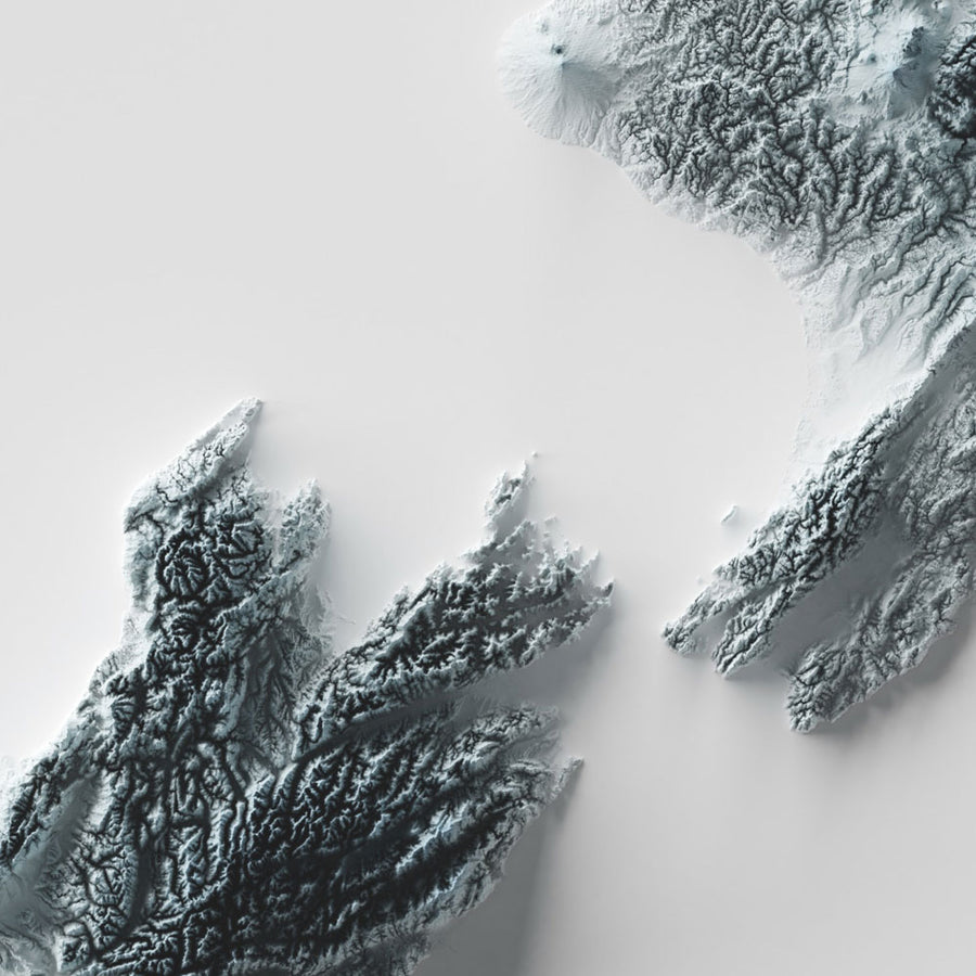 New Zealand - Modern Relief Map