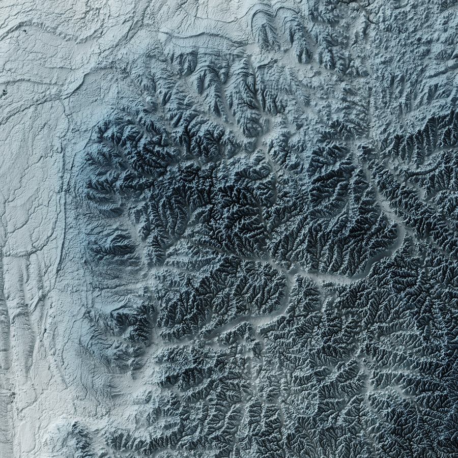 Ohio - Modern Relief Map
