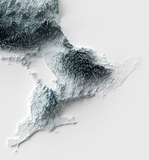 Ontario - Modern Relief Map