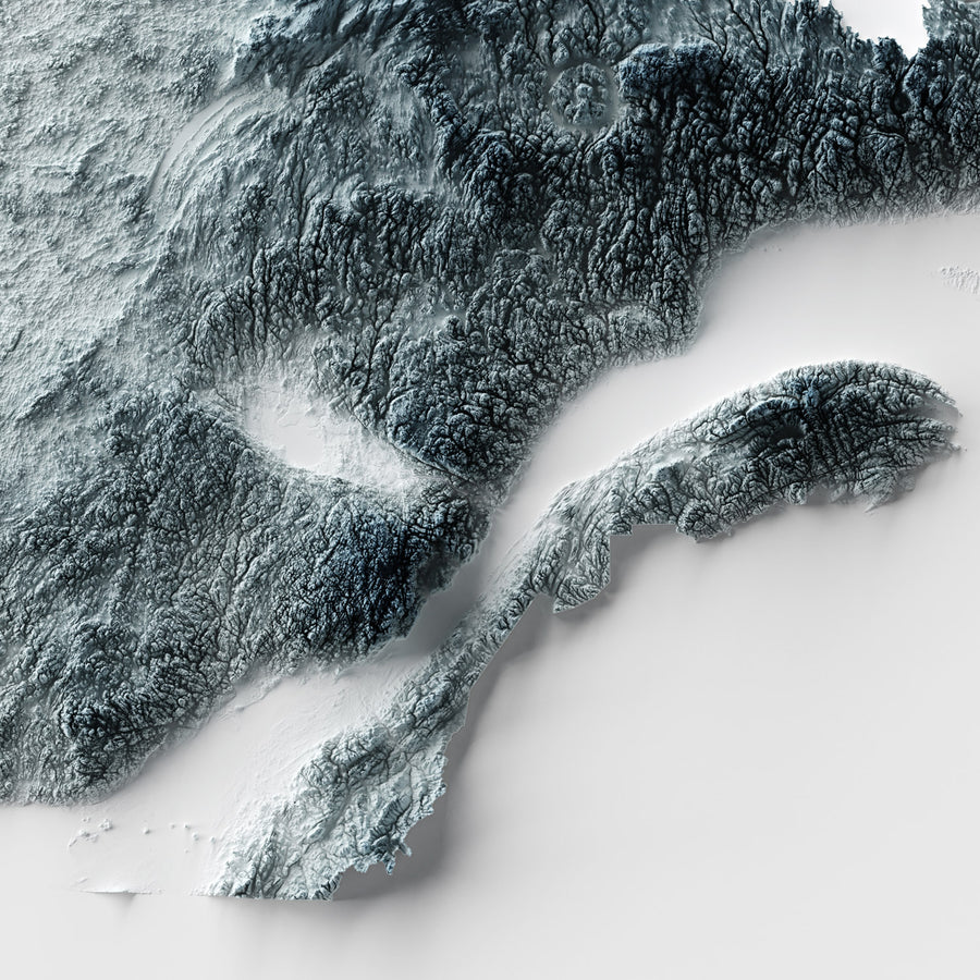 Quebec - Modern Relief Map