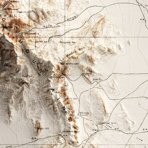Red Rock Canyon, NV - Vintage Relief Map (1907)