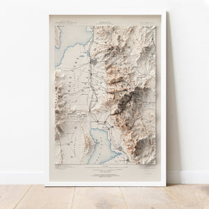 Salt Lake City, UT - Vintage Relief Map (1885)