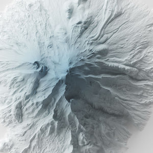 Mount Shasta - Modern Relief Map