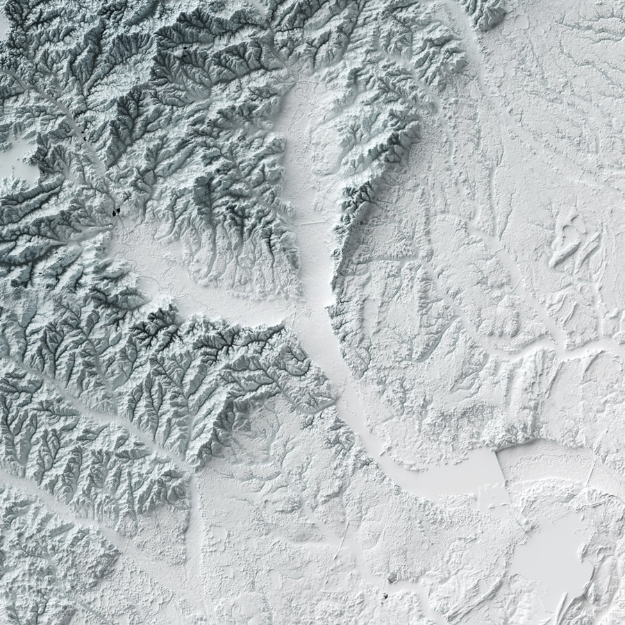 South Carolina - Modern Relief Map