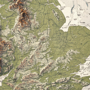 United Kingdom - Vintage Relief Map