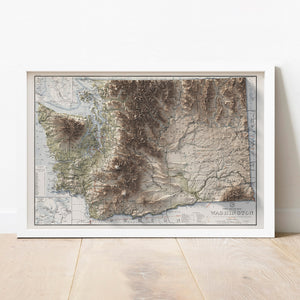 Washington - Vintage Relief Map (1940)