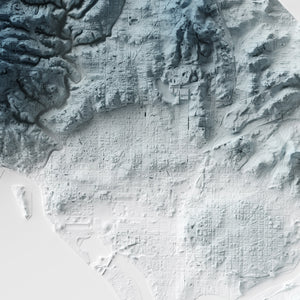 Washington DC - Modern Relief Map