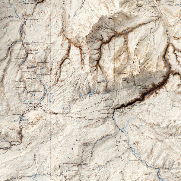 Yellowstone National Park - Vintage Relief Map