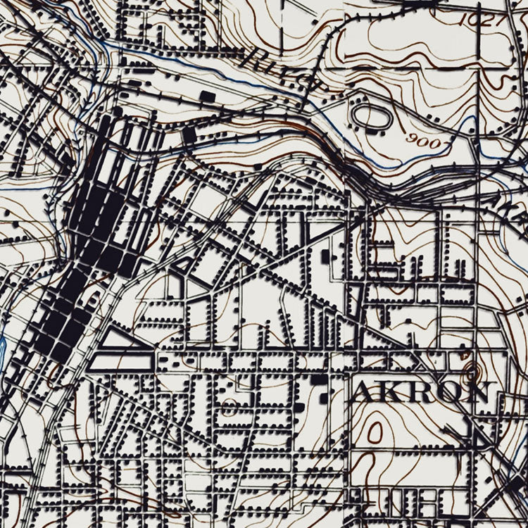 Akron, OH - 1903 Topographic Map