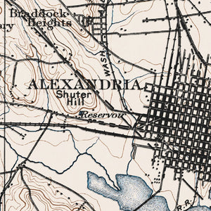 Alexandria, VA - 1900 Topographic Map