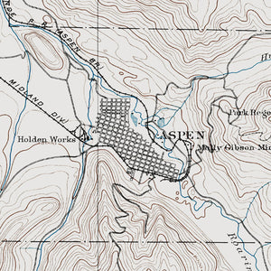 Aspen, CO - 1893 Topographic Map