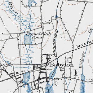 Babylon, NY - 1901 Topographic Map