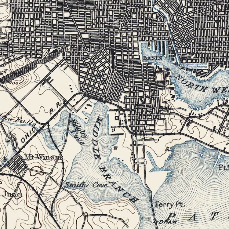 Baltimore, MD - 1894 Topographic Map