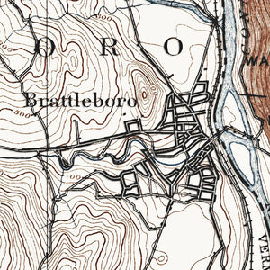 Brattleboro, VT - 1891 Topographic Map