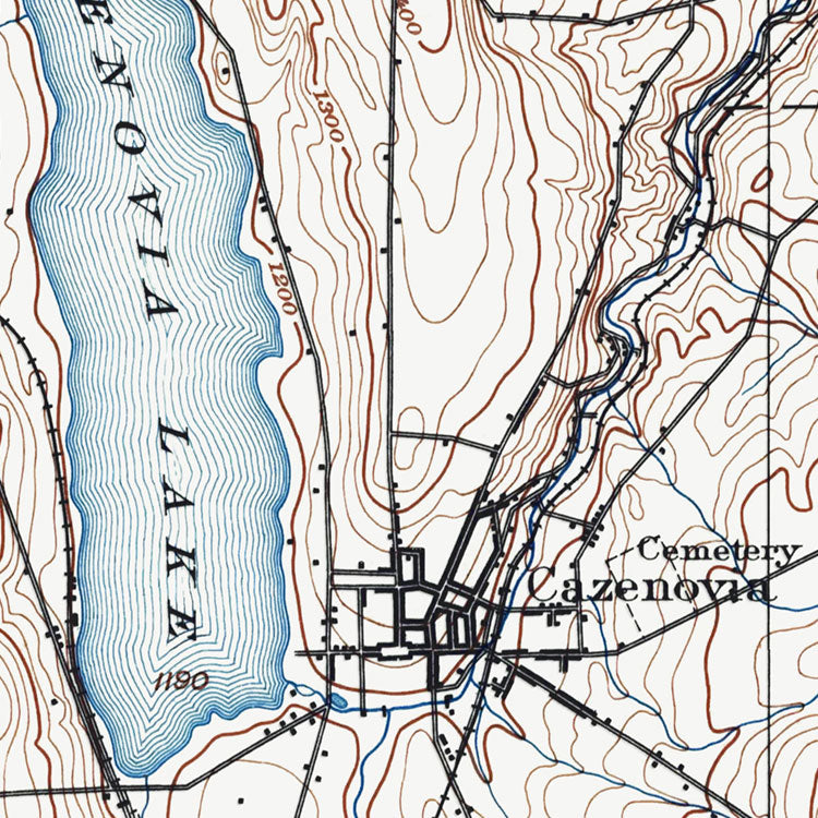 Cazenovia Lake, NY - 1897 Topographic Map