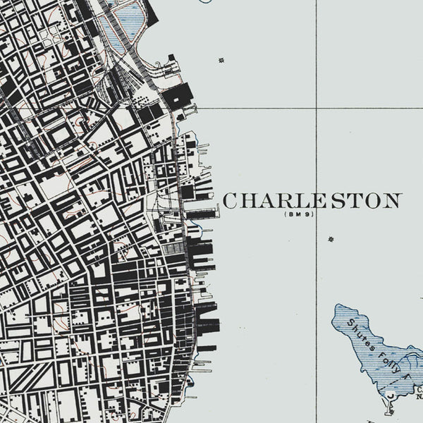 Charleston, SC - 1919 Topographic Map